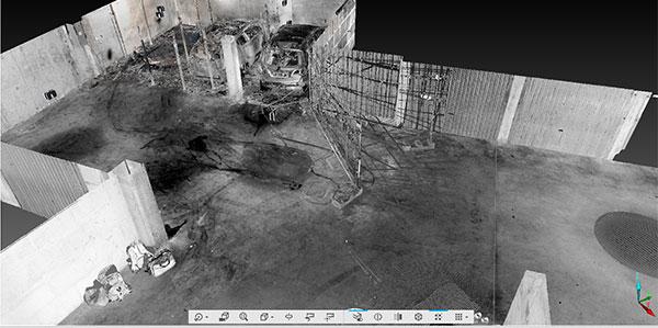Expertise incendie scan 3D pour parcs de stationnement couvert