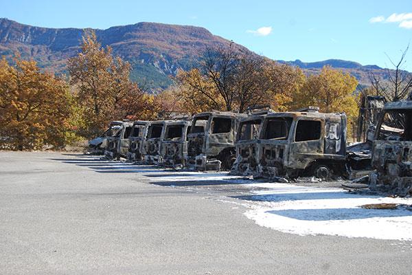 Malys expert incendie camion