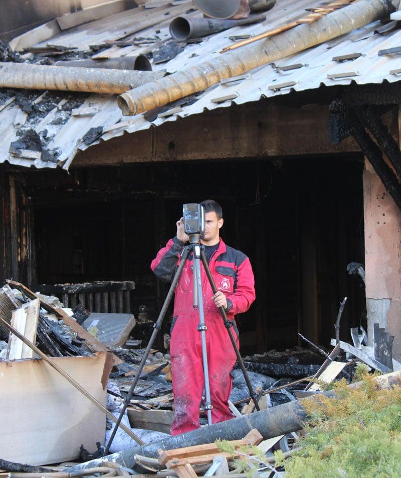 Recherche de causes d'incendie Malys
