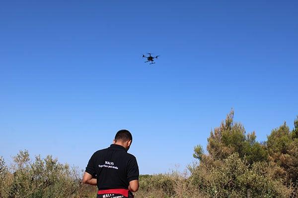 Recherche de causes et circonstances d'incendie par Drone