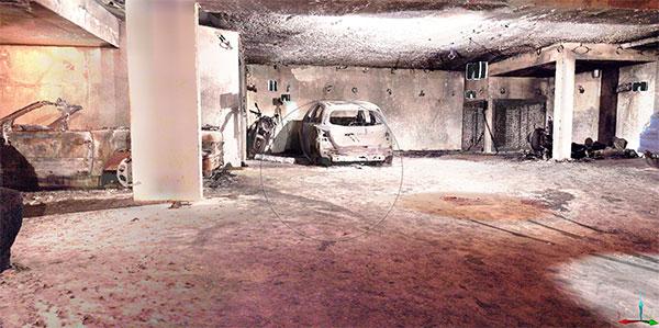 Recherche de causes et circonstances d'incendie scanner 3D