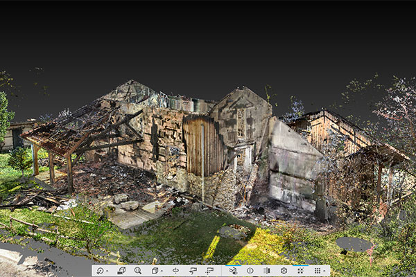 Recherche des circonstances d'un incendie de gîte avec le scanner 3d